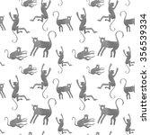 Monkey Seamless Pattern.  Cute...