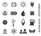 energy icons set | Shutterstock .eps vector #356543804