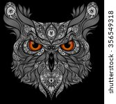 vector owl on a black background | Shutterstock .eps vector #356549318
