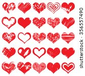 hand drawn heart shapes  icons...   Shutterstock .eps vector #356557490
