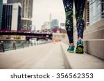 woman athlete feet and shoes... | Shutterstock . vector #356562353
