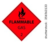 flammable gas sign | Shutterstock .eps vector #356563133