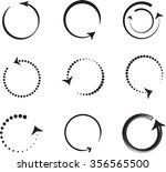round arrows | Shutterstock .eps vector #356565500