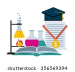 science school design  vector... | Shutterstock .eps vector #356569394