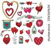 valentine's day hearts... | Shutterstock . vector #356569634