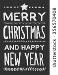 merry christmas and happy new... | Shutterstock . vector #356570408