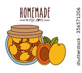 homemade jam design  vector... | Shutterstock .eps vector #356571206