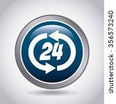 service 24 hours design  vector ... | Shutterstock .eps vector #356573240