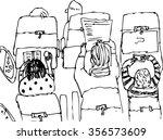 hand drawn illustration of... | Shutterstock .eps vector #356573609