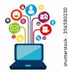social network and media...   Shutterstock .eps vector #356580230
