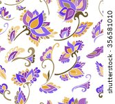 floral seamless background...   Shutterstock .eps vector #356581010