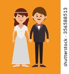 family colorful cartoon graphic ... | Shutterstock .eps vector #356588513