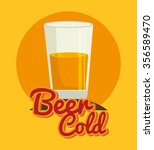 cold and delicious beer graphic ... | Shutterstock .eps vector #356589470