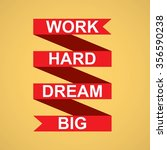 motivation banner on yellow... | Shutterstock .eps vector #356590238