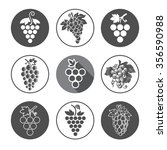 grapes icons and logo set.  for ... | Shutterstock .eps vector #356590988