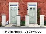 View Of Front Doors Of Two...
