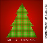 abstract christmas tree from... | Shutterstock .eps vector #356608643