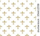 fleur de lis seamless vector... | Shutterstock .eps vector #356612558