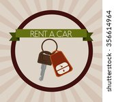 rent a car design  vector... | Shutterstock .eps vector #356614964