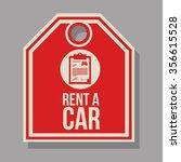 rent a car design  vector... | Shutterstock .eps vector #356615528