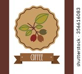 delicious coffee design  vector ... | Shutterstock .eps vector #356616083