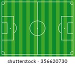 football ground aerial view ... | Shutterstock .eps vector #356620730