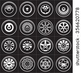 wheels. rims vector set. | Shutterstock .eps vector #356620778