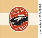 classic retro sports car label | Shutterstock .eps vector #356620784