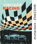 vintage racing car poster ... | Shutterstock .eps vector #356621048