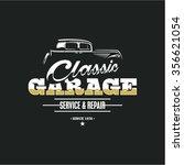 classic car garage  car service ... | Shutterstock .eps vector #356621054