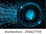 dark blue abstract digital... | Shutterstock .eps vector #356627744