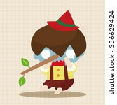 pinocchio theme elements | Shutterstock .eps vector #356629424