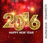 happy new year 2016 creative... | Shutterstock .eps vector #356640074