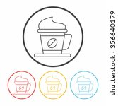 hot coffee line icon | Shutterstock .eps vector #356640179