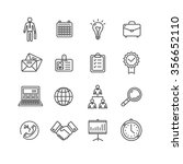 business outline black icons... | Shutterstock . vector #356652110