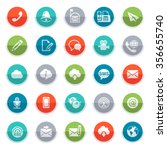 communication icons for... | Shutterstock .eps vector #356655740