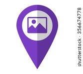 photo   vector icon   violet...