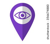 eye   vector icon   violet map...
