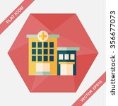 hospital building flat icon... | Shutterstock .eps vector #356677073