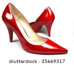 red woman dancing shoes | Shutterstock . vector #35669317