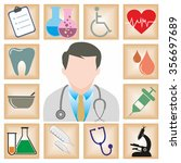 medical icons vector image | Shutterstock .eps vector #356697689