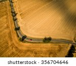 Aerial View Of A Country Road...