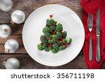 christmas fir tree made from... | Shutterstock . vector #356711198