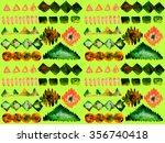 ethnic seamless pattern. ethnic ... | Shutterstock . vector #356740418