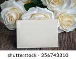 Blank Greeting Card And White...