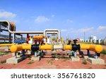 oil field scene  oilfield... | Shutterstock . vector #356761820