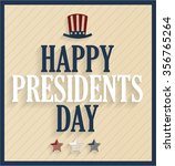 Presidents Day Retro Poster...