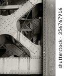 steel beams under bridge | Shutterstock . vector #356767916