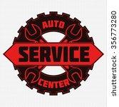 vintage mechanic auto service... | Shutterstock . vector #356773280