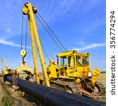 on the pipeline repairs | Shutterstock . vector #356774294